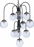 Maxim 20469BGTXBPN-BUL Reverb Contemporary Textured Black / Polished Nickel LED Ceiling Chandelier