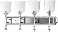 Maxim 20476CLPN Centennial Modern Polished Nickel 4-Light Bathroom Vanity Light