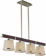 Maxim 20524AFAPSBR Maritime Antique Pecan and Satin Brass Kitchen Island Lighting