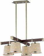 Maxim 20525AFAPSBR Maritime Antique Pecan and Satin Brass Chandelier Light