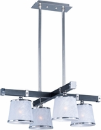Maxim 20525WFWEPN Maritime Wenge and Polished Nickel Chandelier Lighting