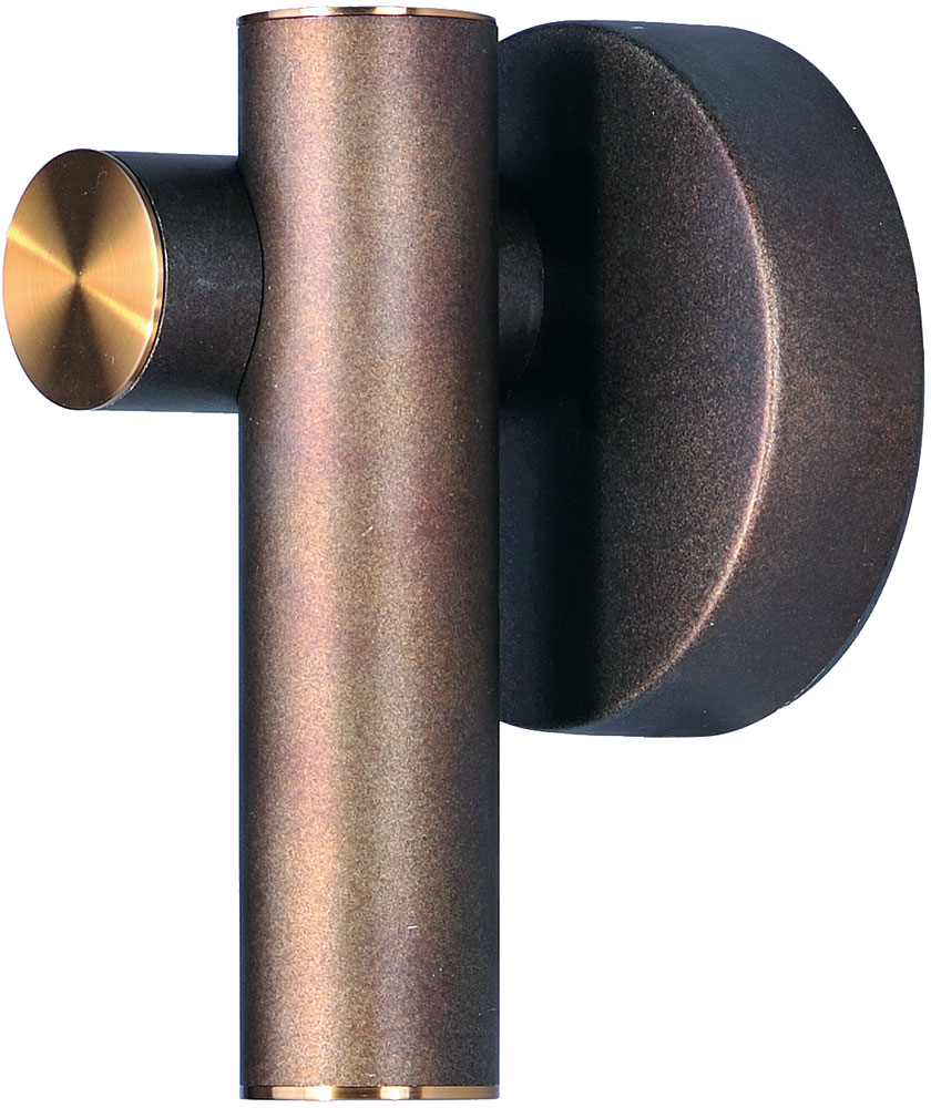 Modern Bronze Wall Sconces : Maxim 20821BZFAB Tubular LED Contemporary Bronze Fusion / Antique Brass LED Wall Sconce Lighting ...