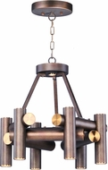Maxim 20824BZFAB Tubular LED Contemporary Bronze Fusion / Antique Brass LED Mini Lighting Chandelier