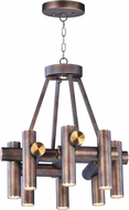 Maxim 20826BZFAB Tubular LED Modern Bronze Fusion / Antique Brass LED Mini Chandelier Lamp