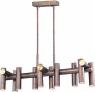 Maxim 20827BZFAB Tubular LED Contemporary Bronze Fusion / Antique Brass LED Island Light Fixture