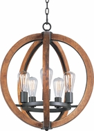 Maxim 20917APAR Bodega Bay Anthracite Mini Chandelier Light