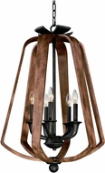 Maxim 20925BWIO Road House Barn Wood/Iron Ore Foyer Light Fixture