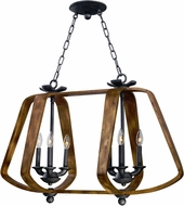 Maxim 20927BWIO Road House Barn Wood/Iron Ore Chandelier Light