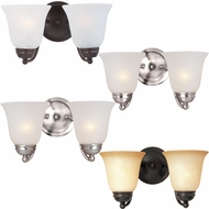 Maxim 2121 Basix Two Light 8  Tall Bathroom Lighting