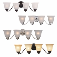 Maxim 2123 Basix Four Light  8  Tall Bath Lighting