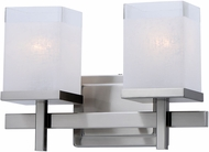 Maxim 2152LNSN Tetra Modern Satin Nickel 2-Light Vanity Lighting Fixture