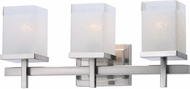 Maxim 2153LNSN Tetra Contemporary Satin Nickel 3-Light Bathroom Vanity Light Fixture