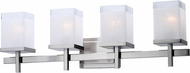 Maxim 2154LNSN Tetra Modern Satin Nickel 4-Light Bathroom Wall Sconce