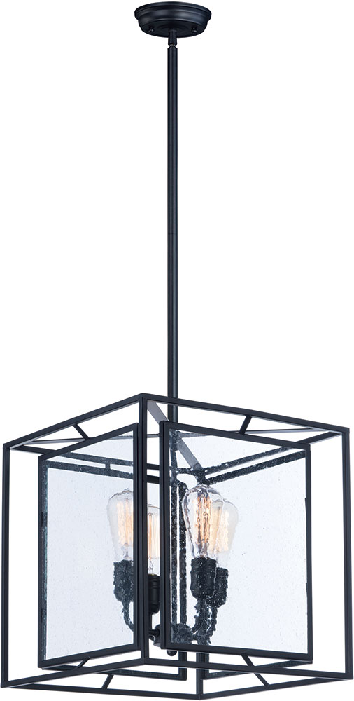 Foyer Lighting Black : Maxim cdbk era modern black foyer light fixture max
