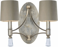 Maxim 21682CLSG-SHD2168 Regal Silver Gold Wall Lighting