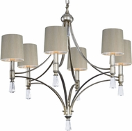 Maxim 21685CLSG-SHD2168 Regal Silver Gold Chandelier Light