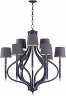 Maxim 22337CLIO-SHD2233 Hendrick Modern Iron Ore Chandelier Lighting