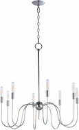 Maxim 22405PN Willsburg Contemporary Polished Nickel Hanging Chandelier