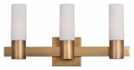 Maxim 22413SWNAB Contessa Three Light Natural Aged Brass 20.75  Wide Bathroom Light
