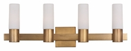 Maxim 22414SWNAB Contessa Four Light 10  Tall Bathroom Lighting Fixture