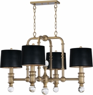 Maxim 22424CLWBR Saloon Modern Weathered Brass Lighting Chandelier