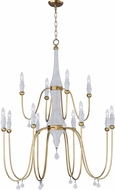 Maxim 22438CSTGL Claymore Contemporary Claystone and Gold Leaf Chandelier Light