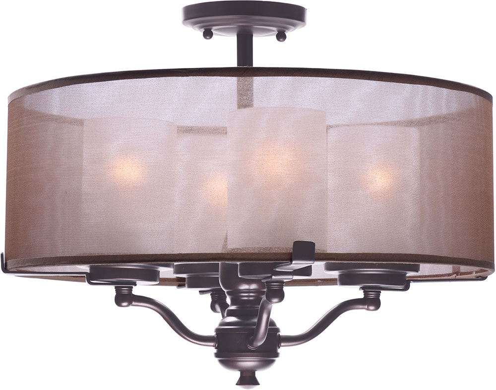 maxim 24550tsoi lucid oil rubbed bronze semi-flush ceiling light