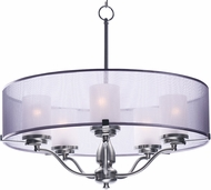 Maxim 24555SSSN Lucid Satin Nickel Drum Pendant Light