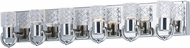 Maxim 24704CLPN Crystol Polished Nickel LED 6-Light Bathroom Light Fixture