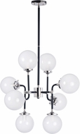 Maxim 24725WTBKPN Atom Contemporary Black / Polished Nickel Chandelier Light