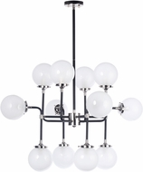 Maxim 24727WTBKPN Atom Modern Black / Polished Nickel Chandelier Lighting