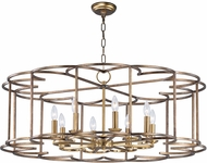 Maxim 24734BZF Helix Contemporary Bronze Fusion Chandelier Light
