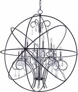 Maxim 25147ARPN Orbit Contemporary Anthracite and Polished Nickel Chandelier Lighting