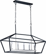 Maxim 25157TXBPN Abode Contemporary Textured Black / Polished Nickel Island Lighting
