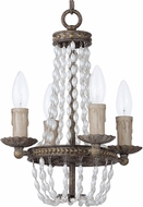 Maxim 26002ATR Gisele Traditional Antique Terra Mini Ceiling Chandelier