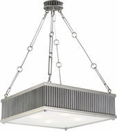 Maxim 26015WZSN Ruffle Weathered Zinc and Satin Nickel Pendant Lamp