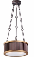 Maxim 26023OIBUB Ruffle Oil Rubbed Bronze and Burnished Brass Drum Hanging Lamp