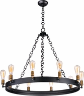 Maxim 26275BKNAB Noble Modern Black / Natural Aged Brass Chandelier Lighting