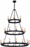 Maxim 26278BKNAB Noble Modern Black / Natural Aged Brass Chandelier Lamp