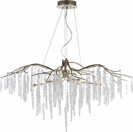 Maxim 26286ICSG Willow Contemporary Silver Gold Xenon Chandelier Lamp