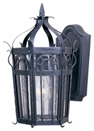 Maxim 30041CDCF Cathedral Mediterranean Country Forge 8.75  Wide Outdoor Wall Lamp