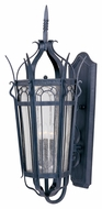 Maxim 30043CDCF Cathedral Mediterranean Country Forge 16.5  Wide Outdoor Sconce Lighting
