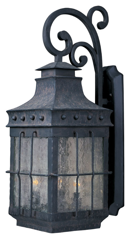 Maxim 30085cdcf Nantucket Traditional Country Forge 32 Nbsp Tall Exterior Wall Light Fixture Loading Zoom