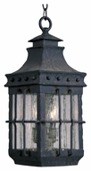 Maxim 30088CDCF Nantucket Traditional Country Forge 8.5  Wide Outdoor Pendant Lamp