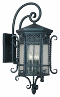 Maxim 30126CDCF Scottsdale Mediterranean Country Forge 17  Wide Exterior Wall Light Sconce