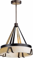 Maxim 30146BZGTGLD Boulder Modern Bronze Gilt and Gold LED Drum Drop Lighting