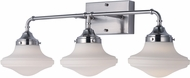 Maxim 30247SWSN New School Contemporary Satin Nickel LED 3-Light Bath Light Fixture