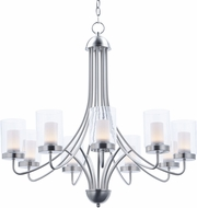Maxim 30267CLFTSN Mod Modern Satin Nickel LED Ceiling Chandelier