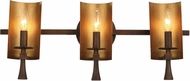 Maxim 30293CHBGLD Candella Contemporary Chestnut Bronze / Gold 3-Light Bathroom Lighting Fixture