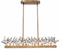 Maxim 30447CGGL Crystal Garden Contemporary Gold Leaf Xenon Kitchen Island Light